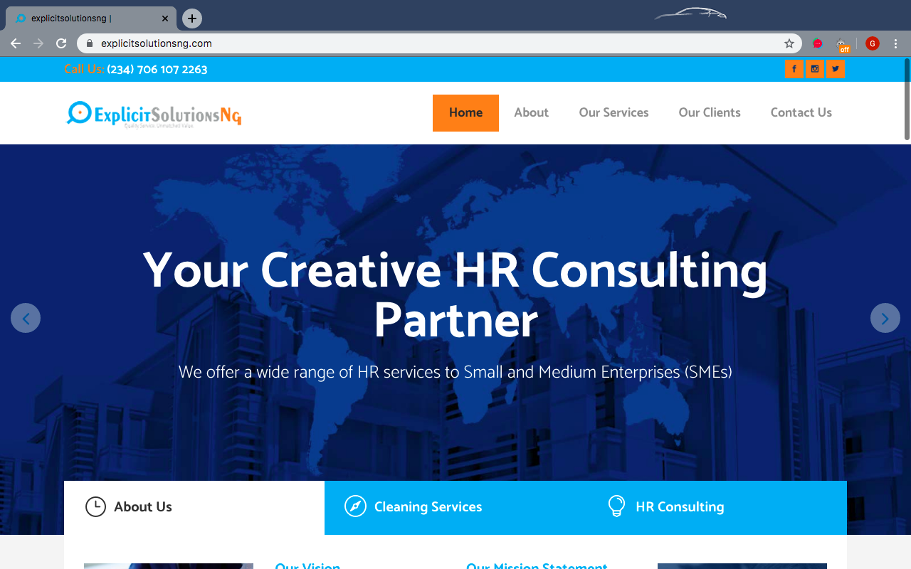 Explicitsolutionsng Website and Job Portal