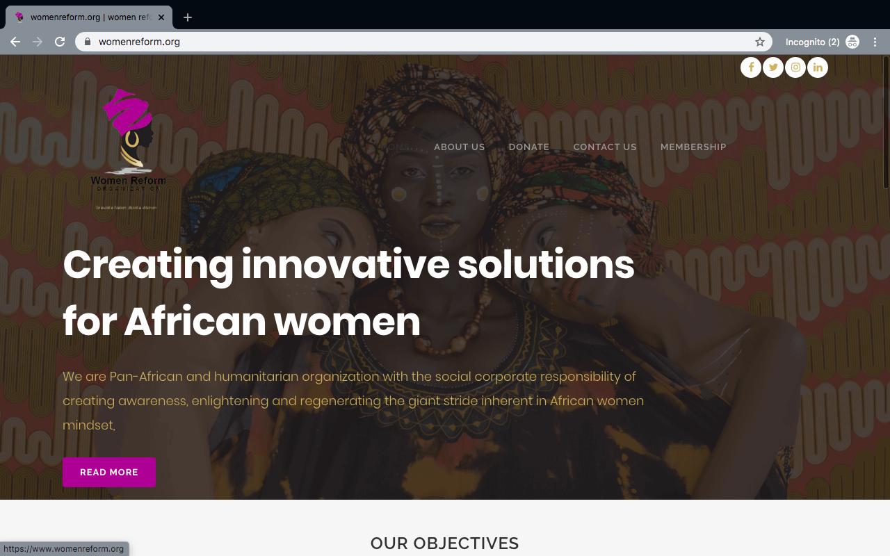 WomenReform Website